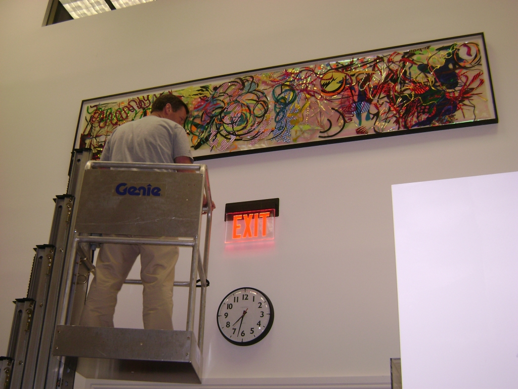 Re-installing the Jacobs Gallery, a contemporary art collection.