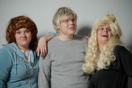 Jess, Jason, and KLev living the senior dream, 2010.